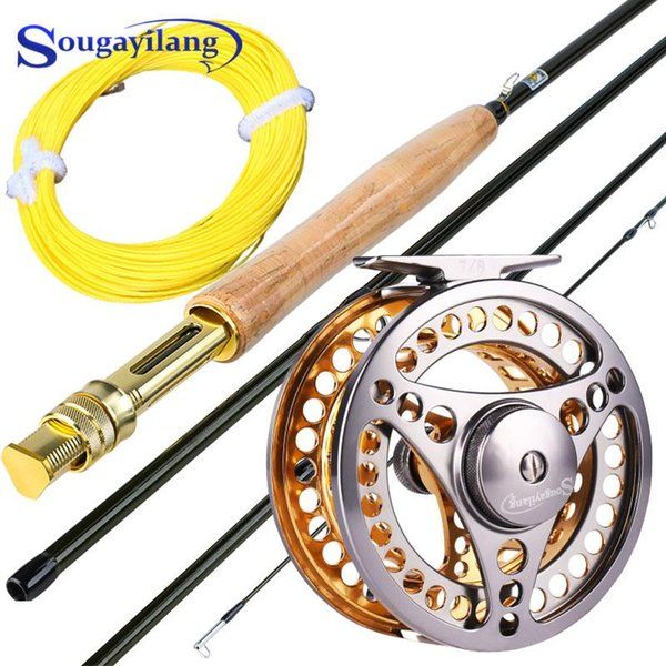 top popular Sougayilang 2.7m Fishing Rod Combo Ultralight Portable Rod and CNC-machined Aluminum Alloy 5 6 Fishing Reel Line Kit 2021
