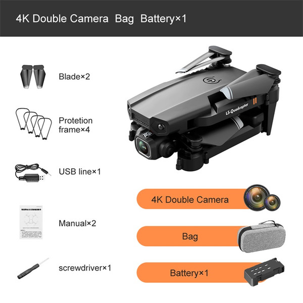 7. 2CAM 4K 1 Battery -With Bag