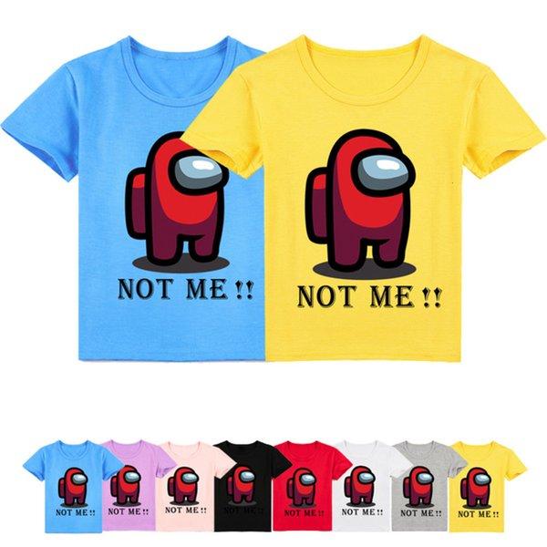 best selling 2021 Summer Clothes Video Game Among Us TShirt Kids Funny Cartoon Harajuku Streetwear Boys T-shirt Impostor Teen Girls Clothing