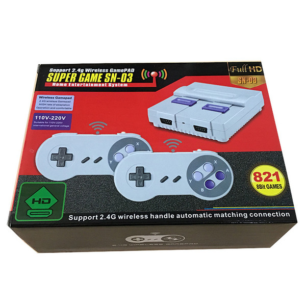 top popular Wireless HD TV game console SNES821 home game console SFC high definition FC Red and white machine nostalgic retro 2021