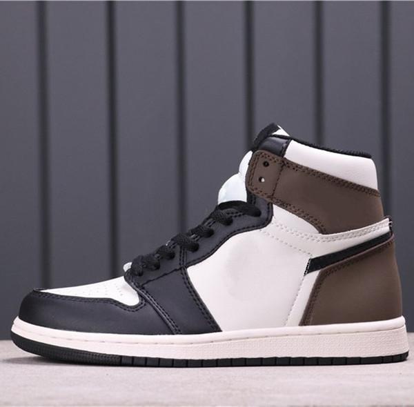 best selling Travis Scott Sports Sneakers X 1 Sail Black Dark Mocha Skateboard shoes Women Men Outdoor Basketball shoes