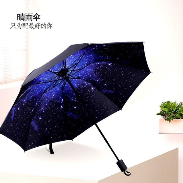 Star Sky Black Umbrella-Reforce 58 x 8