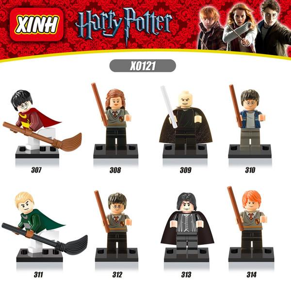 best selling Movie Model Building Block Toys X0129 minifigs 8pcs lot Harry Pott series bricks mini figures compatible sets brand toys