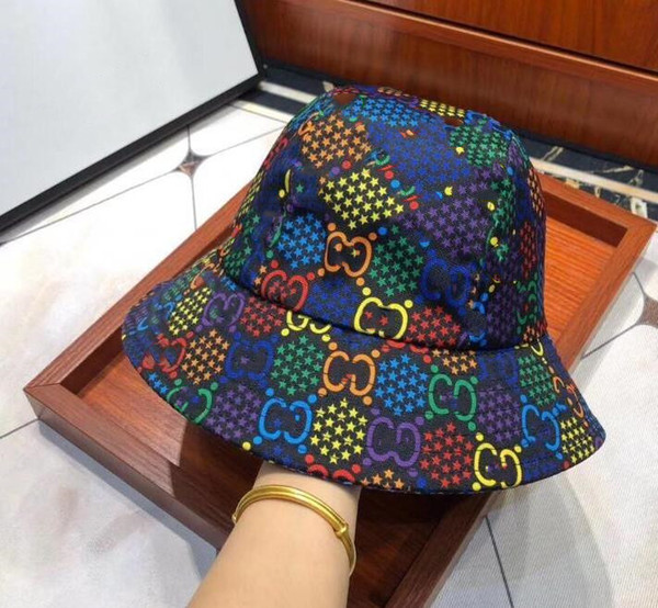 top popular Fashion Letter Bucket Hat For Mens Womens Foldable Caps Black Fisherman Beach Sun Visor Sale Folding Man Bowler Cap 2021