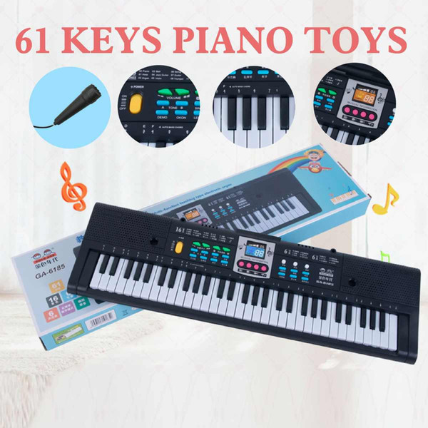 best selling 61 Keys Digital Music Electronic Keyboard Key Board Electric Piano Kids Gift Musical Instrument US EU USB Plug+Microphone