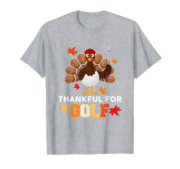 I'm Thankful For Golf Lover Fall Turkey Sport Thanksgiving T-Shirt