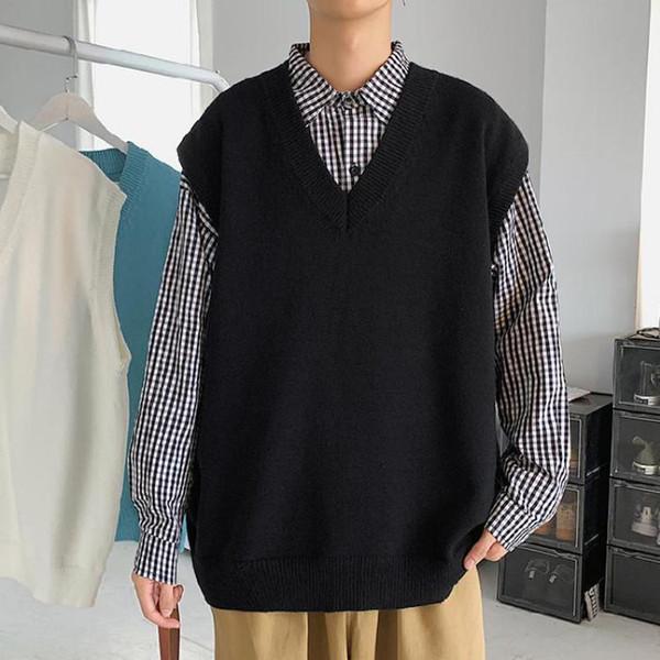Chalecos de suéter negro