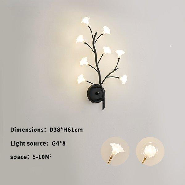 8 cabezas-Gold-Warm Light-Flower Lampshade