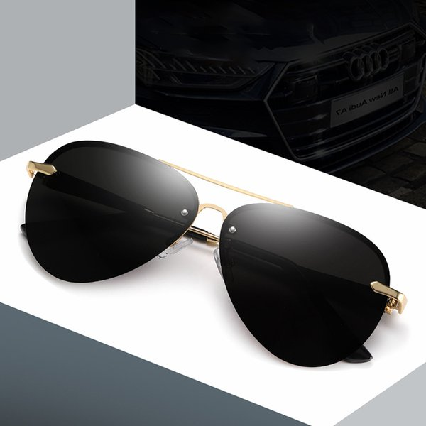 top popular 2020 Brand Design Polarized Out Sunglasses Classic Men Metal Driving Sun Glasses Male Coating Sunglass Uv400 Shades Gafas De Sol 2021