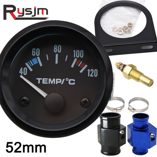 Aughes Water Temp calibri 52mm Auto Moto Puntainter Celsius Bianco Light Water Tempier Manometro Modifica Modificata Auto Temperatura Sensore Auto ...
