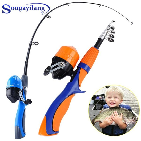best selling Rod Reel Combo Sougayilang 1.25m 1.6m Ice Fishing And Closed Face Spinning Tackle Set For Child