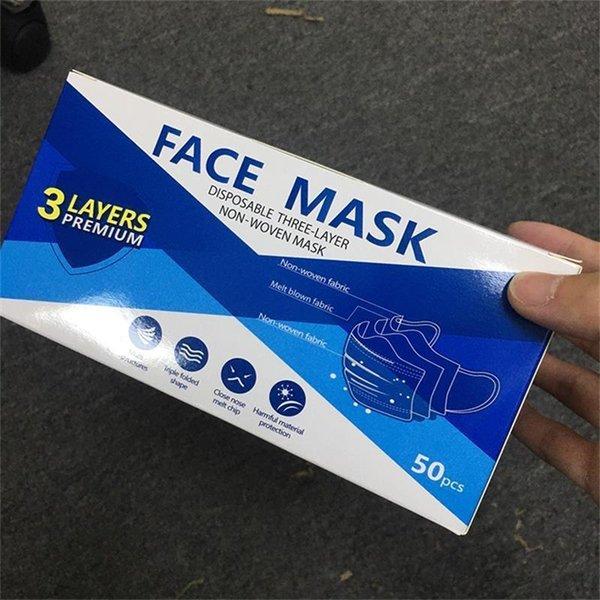 Máscaras faciais descartáveis
