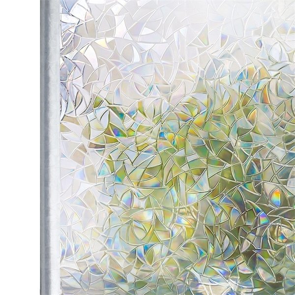 best selling Tinted 3D No Glue Static Decorative Privacy Window Rainbow Films for Stained Glass Self-Adhesive Film Anti UV Glass Sticker Htv Y200421