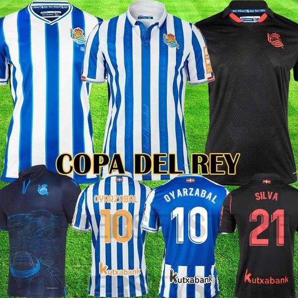 best selling Real Sociedad 2021 Soccer Jersey COPA DEL REY third OYARZABAL X PRIETO PORTU 3rd DAVID SILVA ODEGAARD JUANMI 20 21 camiseta de futbol Football Shirt