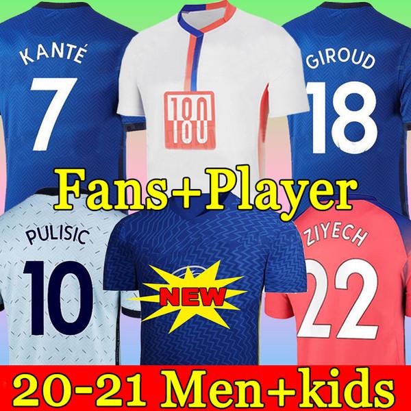 top popular Thailand fourth 20 21 WERNER HAVERTZ CHILWELL ZIYECH Soccer Jerseys 2020 2021 PULISIC Football Shirt KANTE MOUNT 4th Men Kids set Kits tops 2021