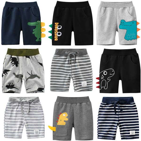 top popular 1-9 Years Children Boys Shorts Pants 100% Cotton Dinosaur Sport Casual Knickers for Baby Boys Girls 2021