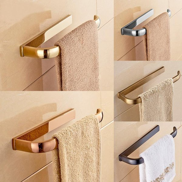 best selling Towel Ring Towel Bar Lavatory Rack Holder Solid Brass Black Chrome Gold Rose Golden Antique Bathroom Accessories