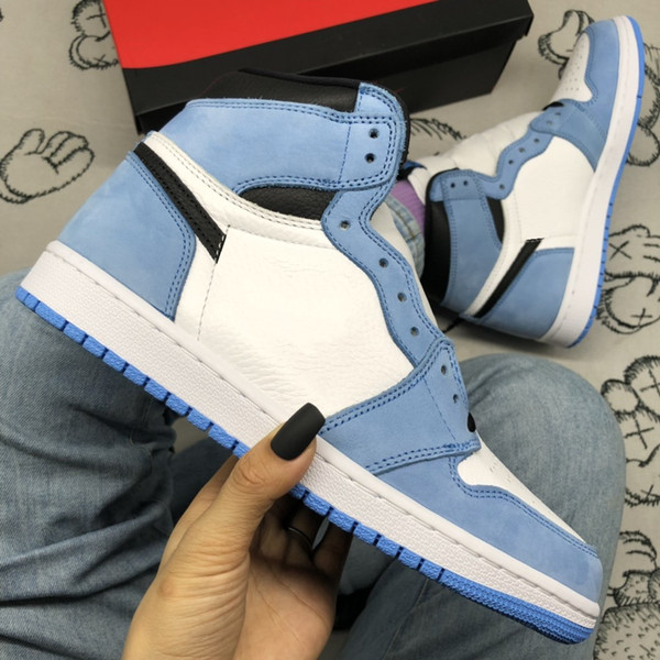 best selling Shadow University Blue Shoes 1 High OG Sports Sneakers Mens UNC Sail 1s Obsidian Trainers Skateboard shoe