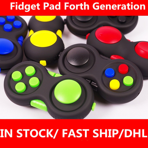 top popular Fidget Pad Hand Shank 4th Generation Game Controller Squeeze Finger Toys Kids Adult Fun ADHD Anxiety Depression Stress Relief Handle H34IX0C 2021