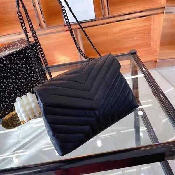 best selling handbags square fat LOULOU chain real leather women's large-capacity shoulder bags high quality quilted messenger bag With box
