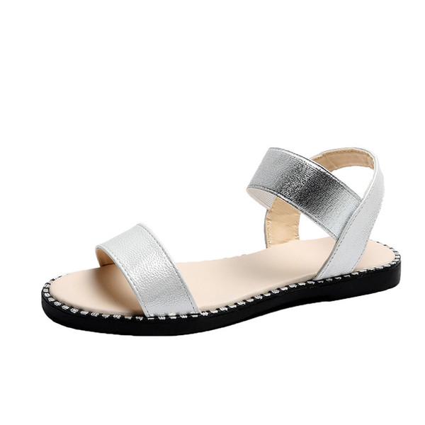 Shoes Woman 2020 Flat Shoes For Women Flat Beach Sandals Summer Shoes Slingbacks Female Women Office Lady Sandals