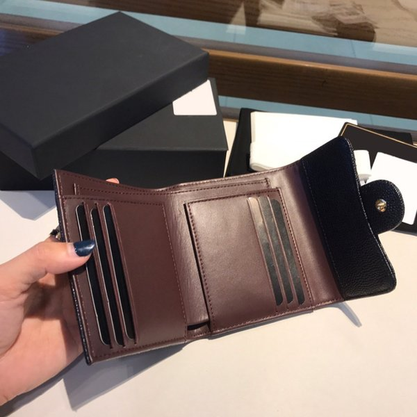 top popular classic best quality genuinel leather mens wallet with box luxurys designers wallet womens wallet purese credit card holder passport holder 2021