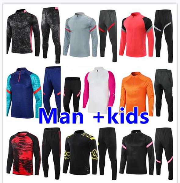 2020 21 chandal futbol mens and kids survetement foot soccer jerseys kids soccer tracksuit men football jersey training jogging tuta jacket