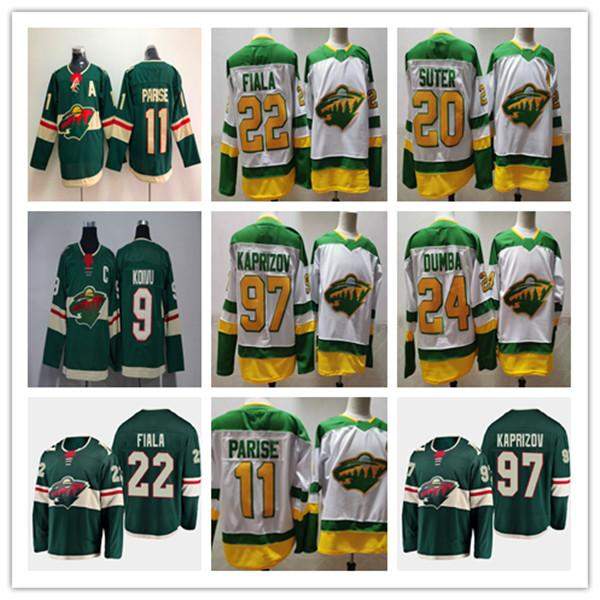 top popular 2021 Minnesota Wild Reverse Retro Jersey 22 Kevin Fiala 97 Kirill Kaprizov 11 Zach Parise 24 Matt Dumba 20 Ryan Suter 9 Mikko Koivu Cheap 2021