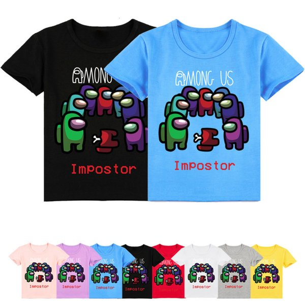 top popular Game Among Us Tshirt Kids Crewmate Impostor T-shirt Toddler Girls Funny Tshirts Children Summer Clothes Boys Short Sleeve Tees 2021