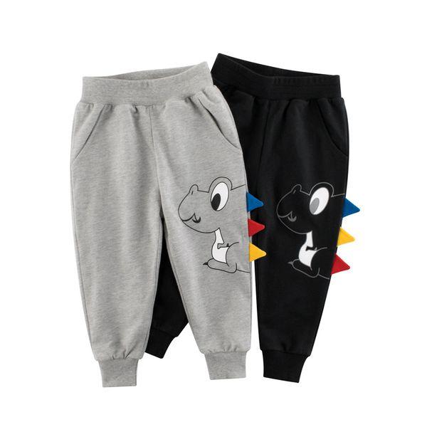 top popular 1-9 Years Children Trousers 100% Cotton Dinosaur Cartoon Boys Girls Kids Spring Autumn Sport Long Pants Sweatpants 2021
