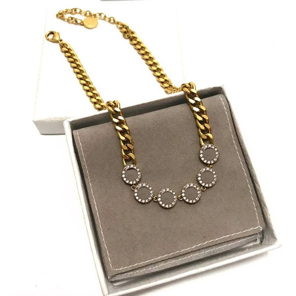 top popular Necklace for Woman Pendant Fashion Pendant Womens Necklaces Necklace Party Lovers Gift Jewelry with Gift BOX 2021