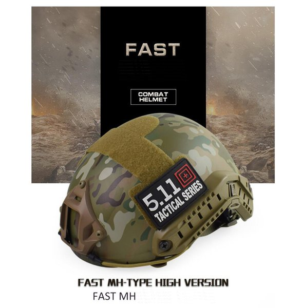 best selling FAST MH SEAL (No hole) tactical helmet Real CS field outdoor riding helmet Tactical Helmets ABS+EPP HT005CP