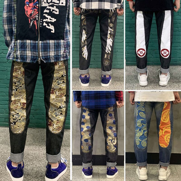top popular 2021 spring and autumn new denim pants for male students in Europe and America 2021