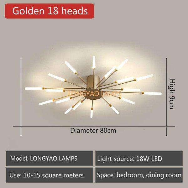 Golden 18 Heads-Neutral Light