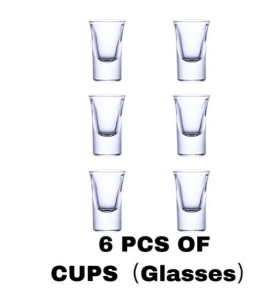6 cup set (transparent)