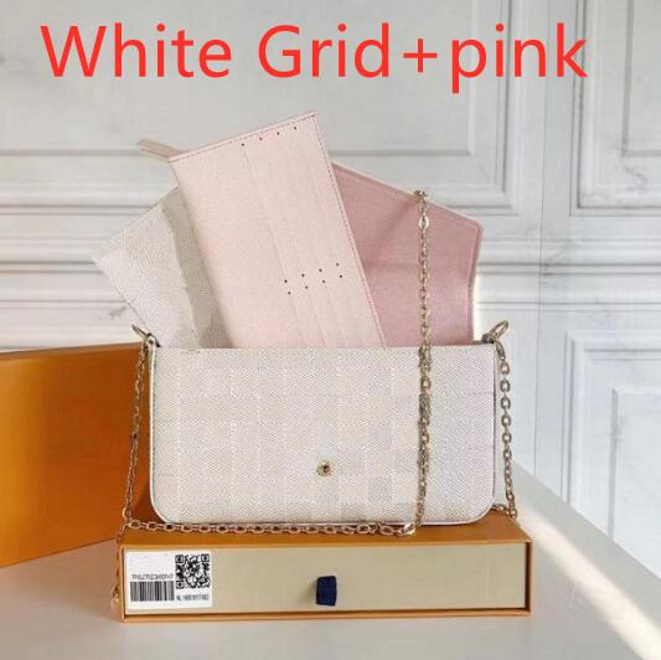 화이트 그리드 + 핑크