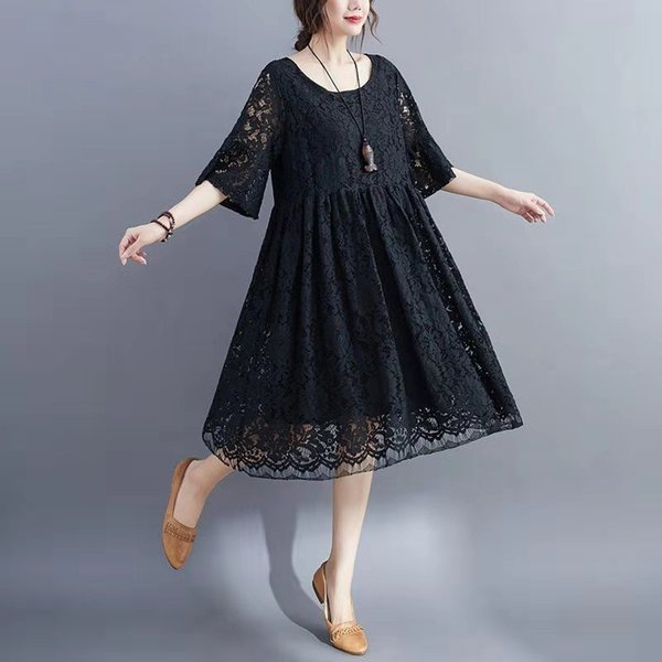 best selling Larger size Spring summer women's wear designer casual dress, high quality round neck, street fashion, close fitting and comfortable lady's clothes