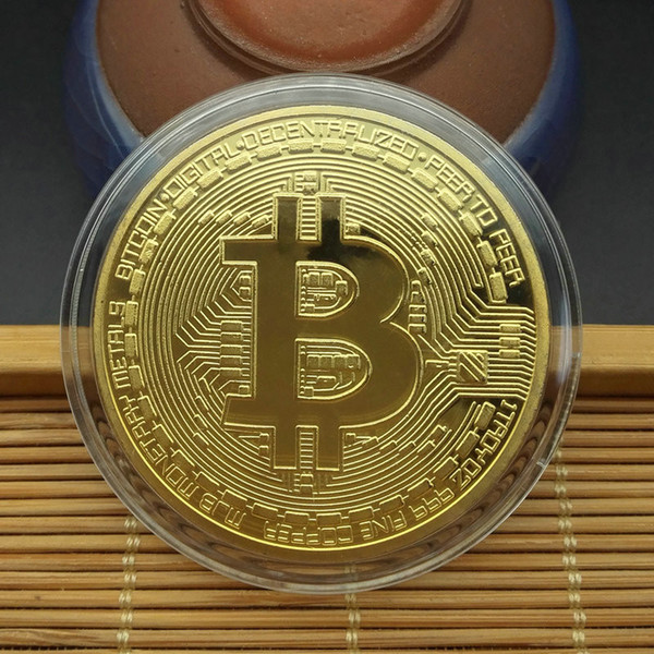 best selling Bitcoin Bit Collection Promotional Commemorative Coin 2021 Potential Collection Gold Coin Commemorative Gift For Friend DHL Free Shipping