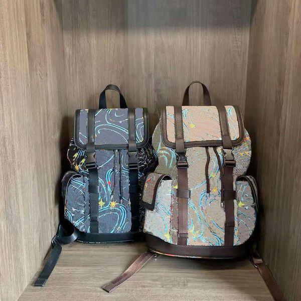 best selling Italy Brand Duck Print Small Backpack Beige Canvas Fabric Cartoon Backpacks Travel Unisex Womens Mens Luxury Designer Handbags Tote Luggage Duffel Bags 645051