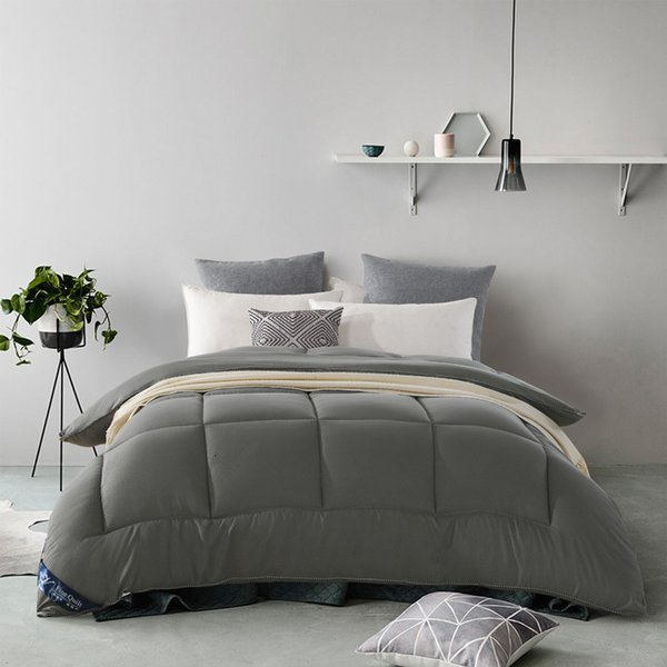 best selling 2021 New 1pc Luxury Fibre Warm Covered Goose Edredon Multicolor Optional Winter Summer Size King's Queen Twin Complete Quilt 4i1c