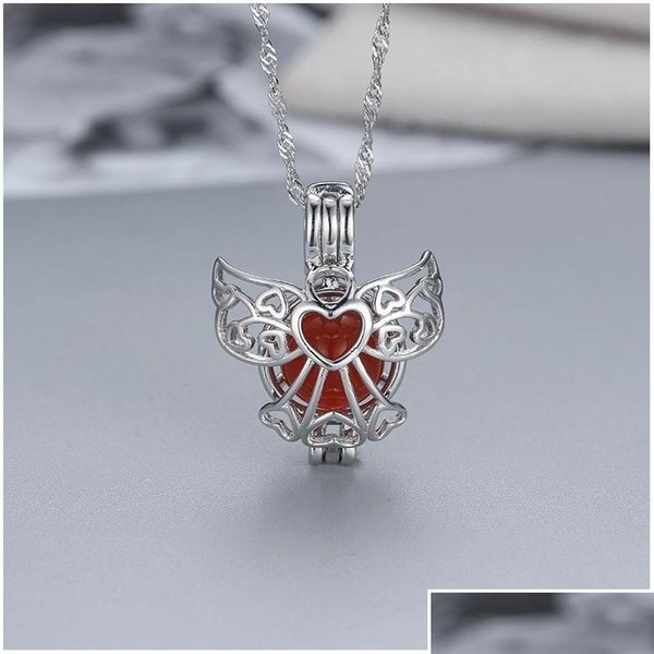 top popular Factory Outlet S925 Sterling Silver Magic Box Necklace Fashion Creative Heart Pearl Cage Pendant Diy Wmpd001 Fxwfq Ixku1 2021