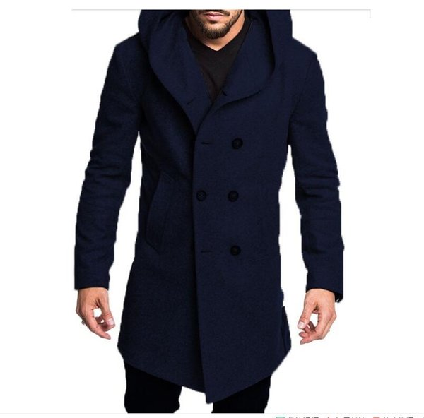 best selling mens long trench coat Cotton jacket Formal Casual autumn and winter models 5 color fashion S-3XL