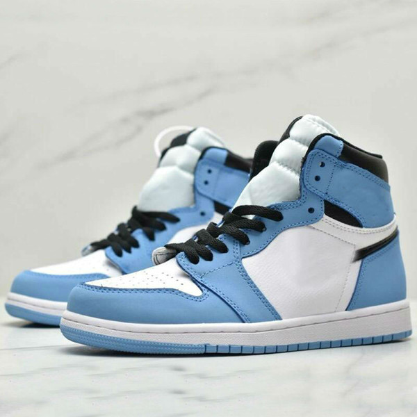 best selling 1 High OG University Blue 2.0 shoe Silver toe Mid-night Navy white black women men basketball shoes mens sports sneakers36-45