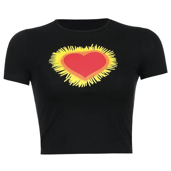 Camiseta negra del corazón