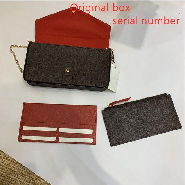 top popular 3 pcs set favorite multi pochette accessories women Crossbody Purse Messenger bags Handbags Flowers shoulder lady Leather with box 61276 2021