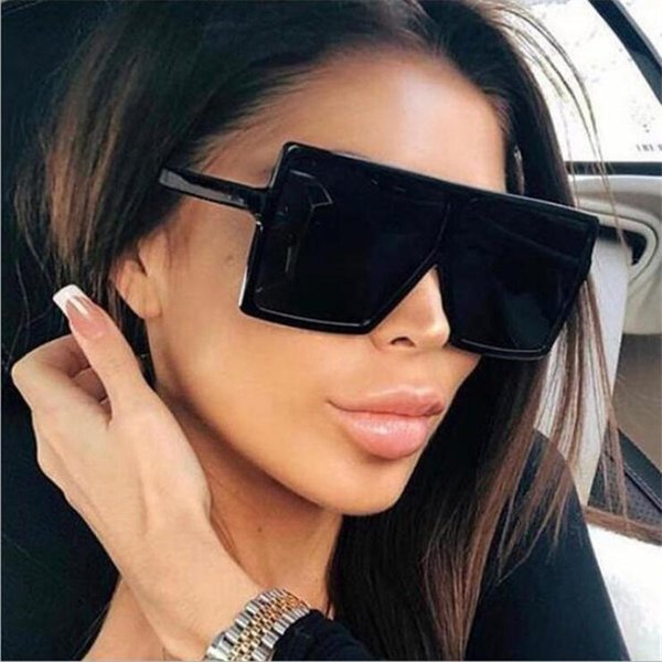 best selling Sunglasses Square Oversize Women 7 Colors Sun Glasses Female Eyewear Eyeglasses Plastic Frame Clear Fashion Driving New Accessories