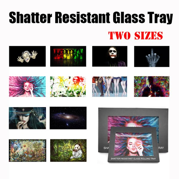 top popular Anti-drop Shatter Resistant Glass Rolling Trays Thick Tobacco Smoking Tray for Pipes Papers Grinders Factory Price 2021