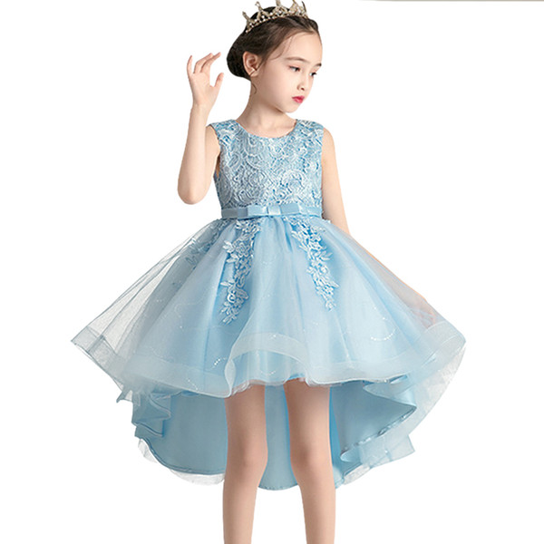 New flower girl Princess Birthday Party Trailer Sequin dress girl 3-12 year old princess graduation party first trailer dress