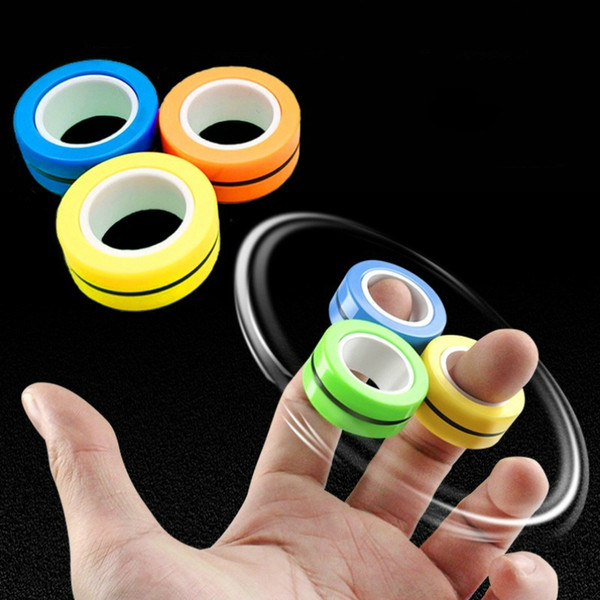 best selling Anti-Stress Magnetic Rings Fidget Unzip Toy Magic RingTools Children Magnetic Ring Finger Spinner Ring Adult Decompression Toys