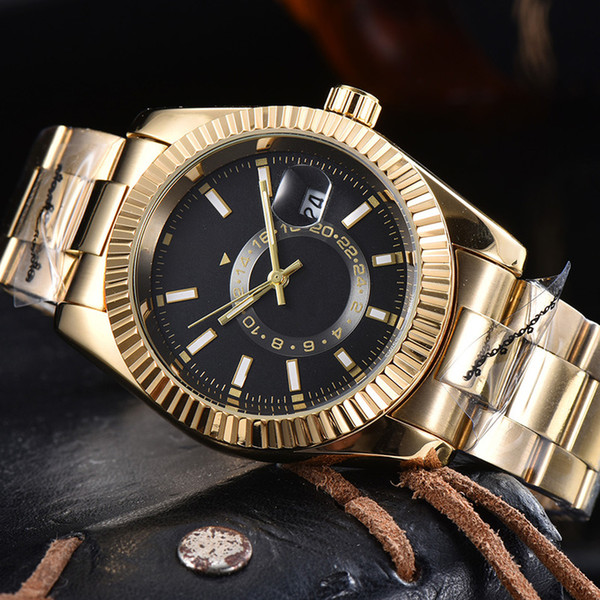 4-2021Mens gold watch hot sale designer Montreux luxury quartz watch sports business military mens watch orologio free shipping